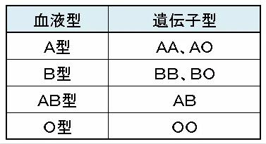 DNA血液型表